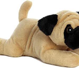 black and tan stuffed Pug toy