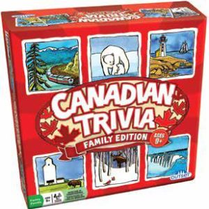 Canadian Trivia Game box with pictures of all areas of the country