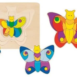 layers of colourful butterfly puzzles