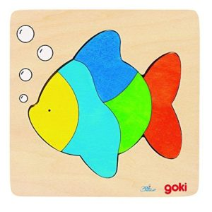 colourful wooden fish puzzle for child