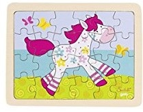 a colourful cartoon horse for children in pastel colours