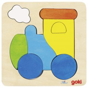 colourful worren train puzzle for children