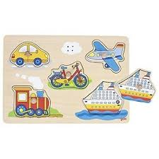 plane, train ,car, bike and boat puzzle with sounds