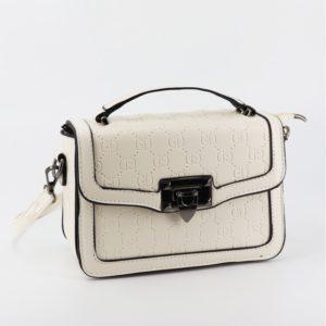 square cream purse