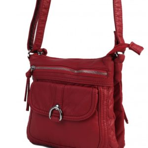 burgundy shoulder bag with compartments