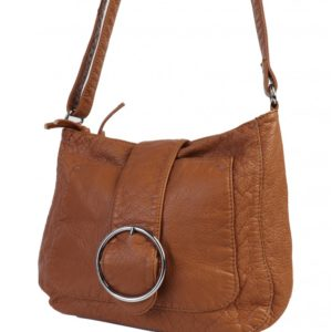 satchel with shoulder strap camel coloured