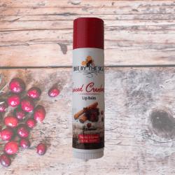 cranberry lip balm tube