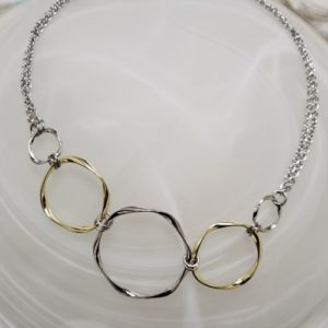 Twisted Circle Bib Necklace