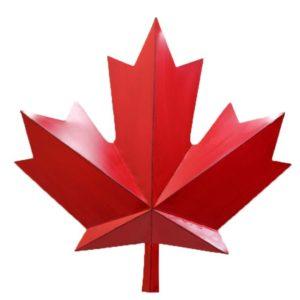 red metal maple leaf