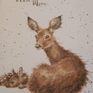 wrendale card deer mom