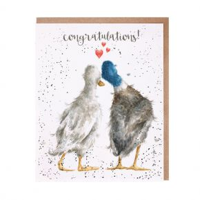 wrendale card duck love