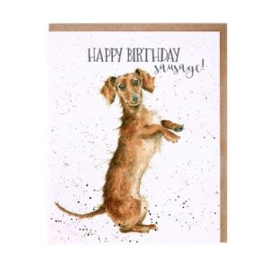 Wrendale's 'Sausage' card