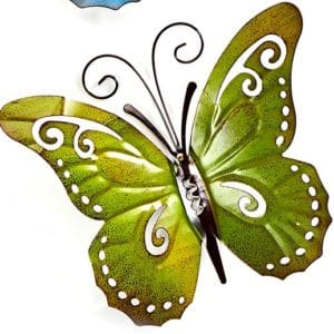 Garden Decor - Green Metal Butterfly