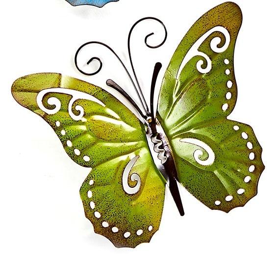 Garden Decor - Green Metal Butterfly