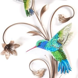 Hummingbird Wrought Iron Wall Decor