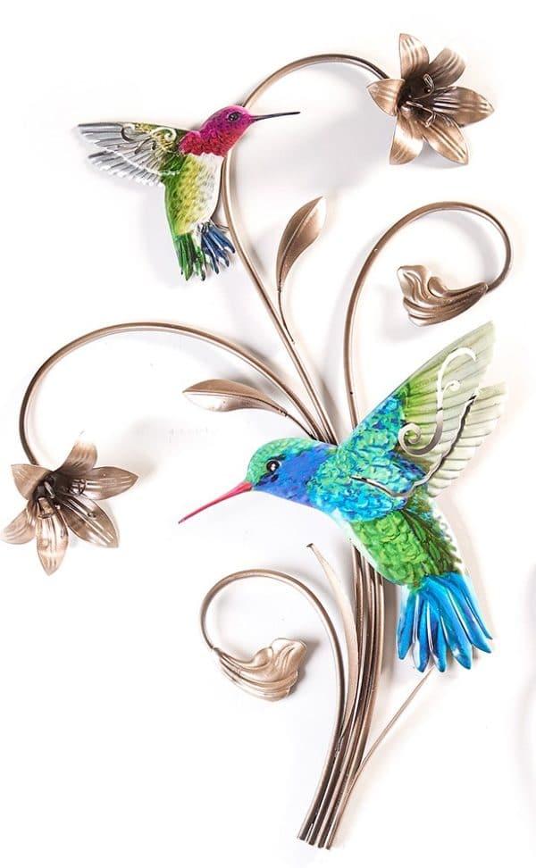 Hummingbird Wrought Iron Wall Decor