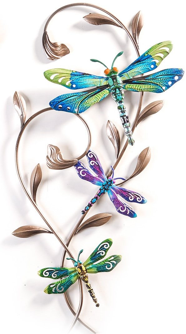 Dragonfly Wrought Iron Wall Decor