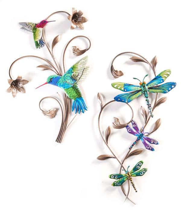 wrought iron hummingbird Wall decor