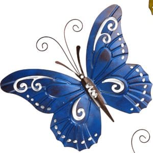 Garden Decor -  Blue Metal Butterfly