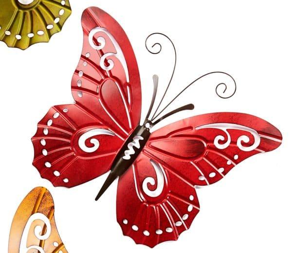 Garden Decor - RedMetal Butterfly