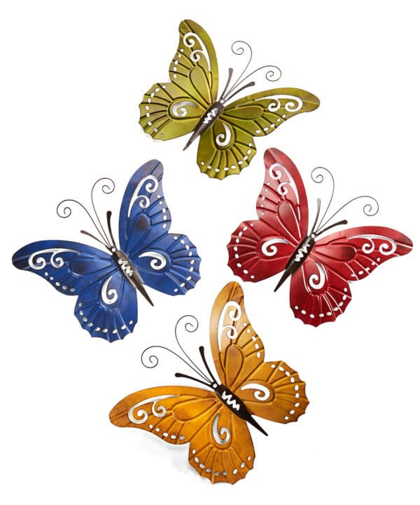 Butterflies wrought iron wall decor