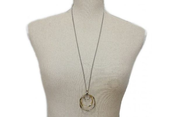 Ladys Charm Circle Necklace shown as worn