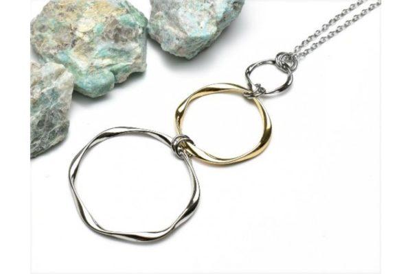 Ladys Charm Long Circle Necklace