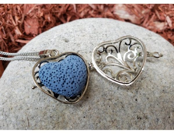 lava heart necklace open