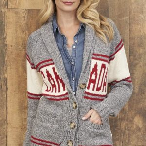 Canada cardigan is stylish, comfortable and good for the environment.