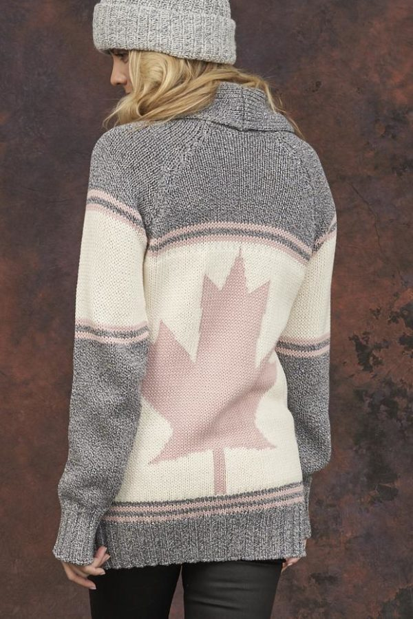 Canada Cardigan Vintage Wash back view