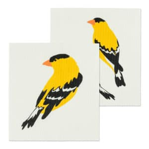 Amazing Swedish Dishcloths. Made in Sweden, these finch-themed dishcloths