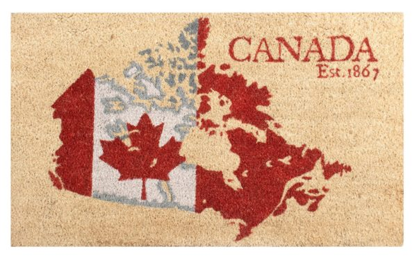 pineridge mat canada map with rubber backing