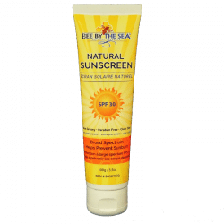 Tube of natural sunscreen