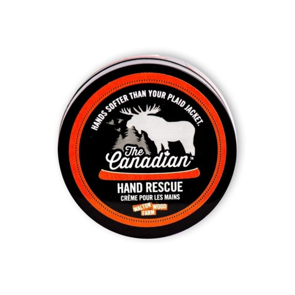 THE CANADIAN MEN'S HAND RESCUE For hands softer than your favourite plaid jacket, lather on our maple bark and wild portage trail scented hand rescue.