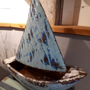 Hemingway Boat Planter - Metal