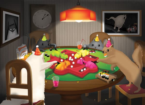 Cats Playing Hippos puzzle