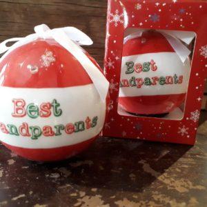 Best Grandparents Sparkling Ornament