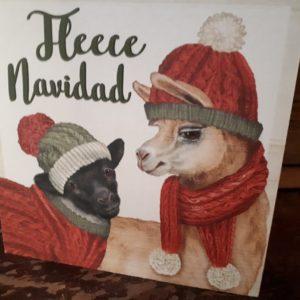 Fleece Navidad Wooden block