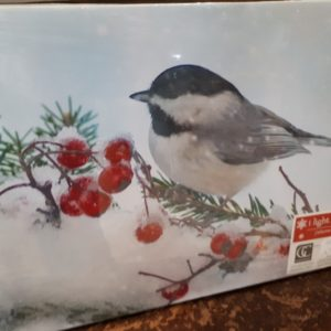 Canvas Print of Chickadee in Winter