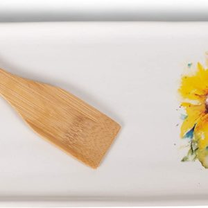 Appetizer Tray with Sunflower artwork
